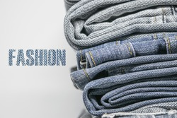 Jeans and word fashion