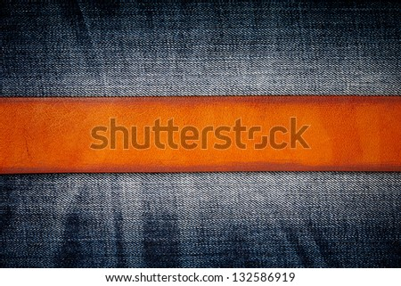 Jeans background with belt