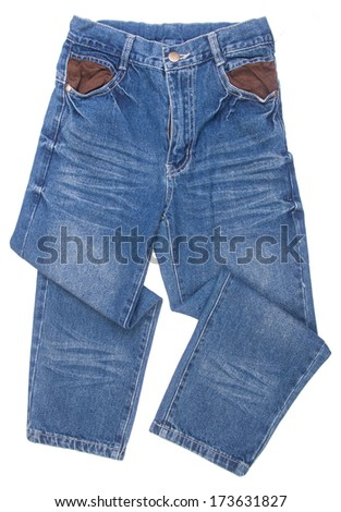 Jeans. children's jeans on background