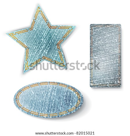 jeans different shapes over white background