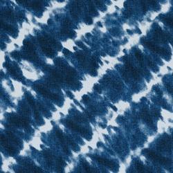 Jeans fashion background. Blue color grunge seamless texture. Textile cotton textured fabric. Tie dye elements diagonal stripes pattern on denim material.