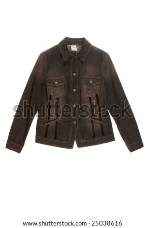 jeans jacket isolated on white