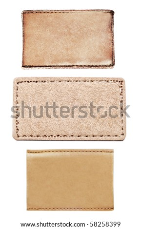 Jeans label set isolated on a white background