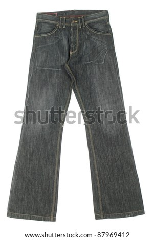 jeans pants isolated in white background