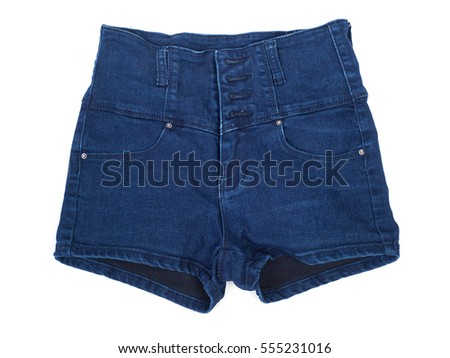 Jeans shorts isolated on white background #555231016