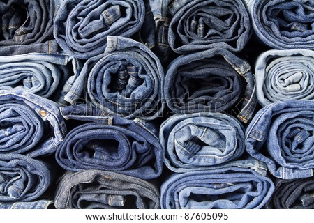 Jeans trousers stack