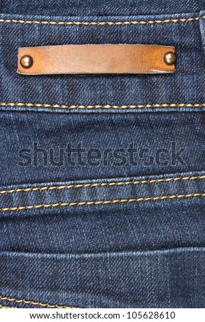 Jeans with label, good for background