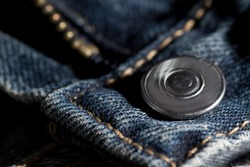 Jeans zipper and button
