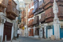 Jeddah Old City Buildings and Streets, Saudi Arabia