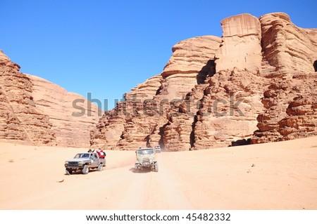 jeep safari at rum valley in Jordan