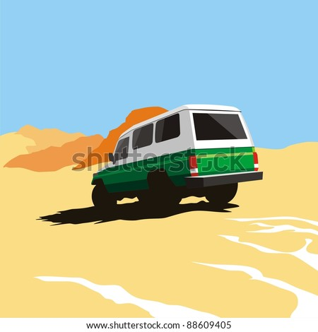 jeep safari in the desert