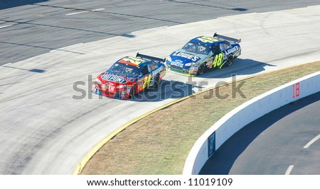 Jeff Gordon & Jimmy Johnson during the NASCAR race at Martinsville Va.