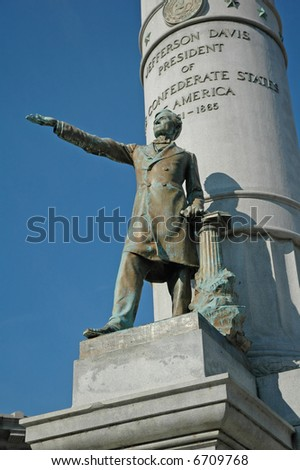 Jefferson Davis Monument - by Edward Valentine - Monument Avenue, Richmond, Virginia