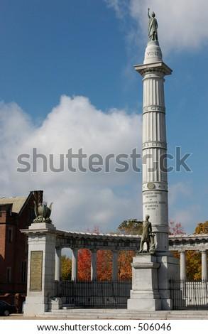 Jefferson Davis President of the Confederate States - Monument in Richmond Virginia