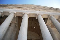 Jefferson Memorial Architecture in Washington DC ,USA