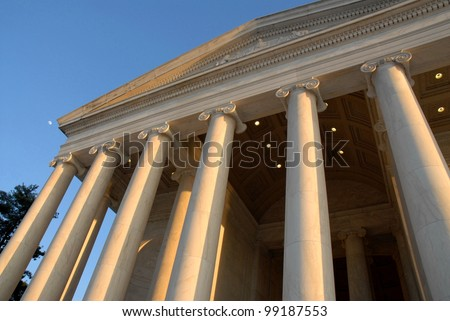 Jefferson Memorial Architecture in Washington DC ,USA