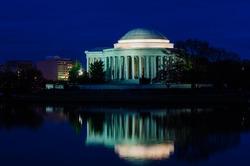 Jefferson Memorial as seen from Tidal Basin - Washington DC, USA