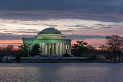 Jefferson Memorial at dawn in Spring, Tidal Basin, Washington, DC