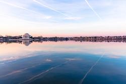 Jefferson Memorial at the Tidal Basin sunrise