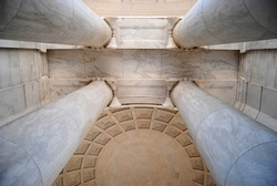 Jefferson Memorial Ceiling ,and Column Structure in Washington DC , USA
