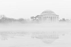 Jefferson Memorial in winter - Washington DC USA