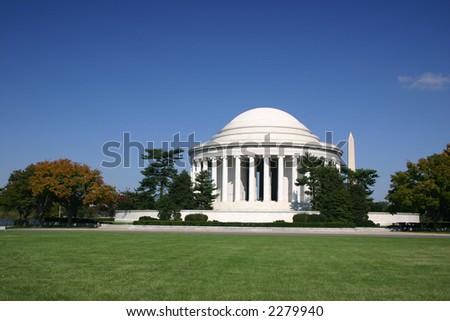 Jefferson Memorial on Washington DC - stock photo