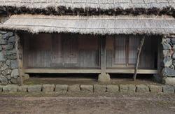 Jeju Island traditional thatched house - Korea