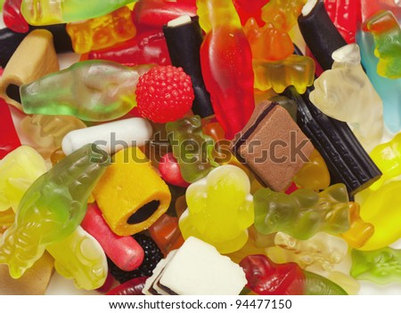 jelly candies background
