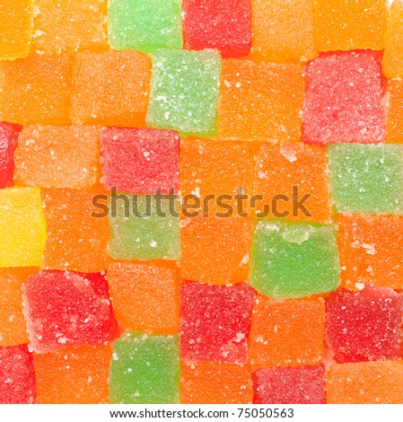 jelly fruit candies background