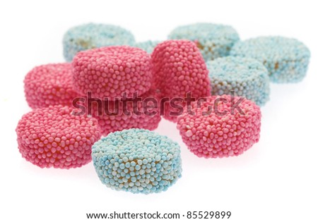 jelly pile isolated on a white background