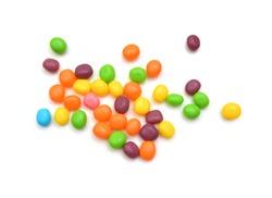 Jellybeans isolated on white background, close up