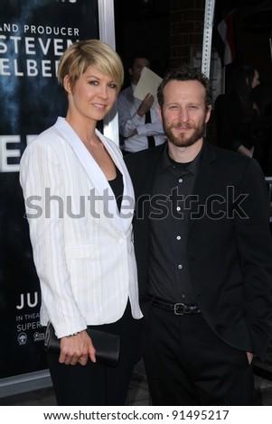Jenna Elfman And Bodhi Elfman At The Super 8 Los Angeles Premiere
