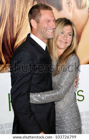 Jennifer Aniston and Aaron Eckhart  at the World Premiere of 'Love Happens'. Mann Village Theatre, Westwood, CA. 09-15-09