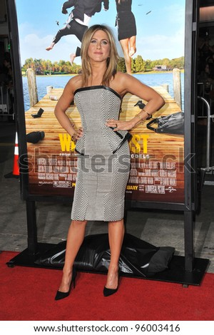 "Jennifer Aniston at the world premiere of her new movie ""Wanderlust"" at the Mann Village Theatre, Westwood.  February 16, 2012  Los Angeles, CA Picture: Paul Smith / Featureflash"