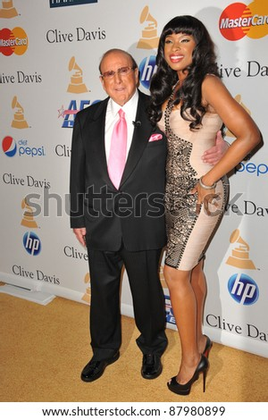Jennifer Hudson & Clive Davis at the 2011 Clive Davis pre-Grammy party at the Beverly Hilton Hotel. February 12, 2011  Beverly Hills, CA Picture: Paul Smith / Featureflash