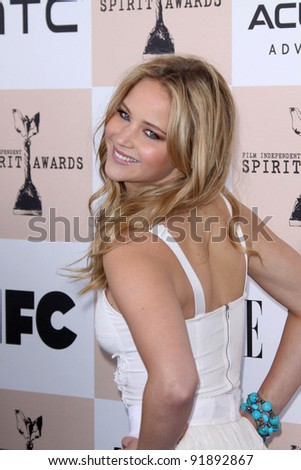 Jennifer Lawrence at the 2011 Film Independent Spirit Awards, Santa Monica Beach, Santa Monica, CA 02-26-11