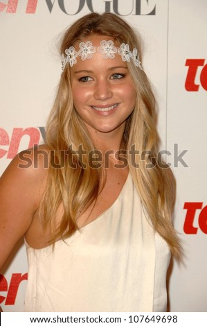 Jennifer Lawrence  at the Teen Vogue Young Hollywood Party. Los Angeles County Museum of Art, Los Angeles, CA. 09-18-08