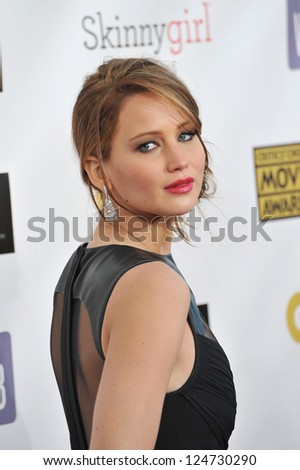 Jennifer Lawrence at the 18th Annual Critics' Choice Movie Awards at Barker Hanger, Santa Monica Airport. January 10, 2013  Santa Monica, CA Picture: Paul Smith