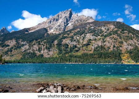 Jenny Lake in the Grand Teton National Park, Wyoming.