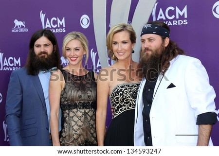 Robertson, Korie Robertson and Willie Robertson of Duck Dynasty