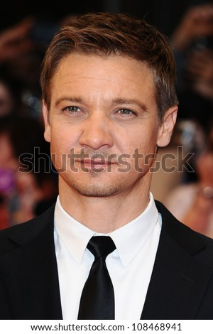 "Jeremy Renner arrives for the ""Avengers Assemble"" premiere at the Vue cinema Westfield, London. 19/04/2012 Picture by: Steve Vas / Featureflash"