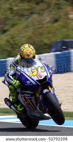 JEREZ, SPAIN - MAY 1 : Valentino Rossi of Italy during the 1 free practice before GP betandwind.com of Spain, May 1, 2009 in Jerez de la Frontera, Spain