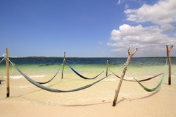 Jericoacoara beach. White sand in a paradise. Ceará Brazil.