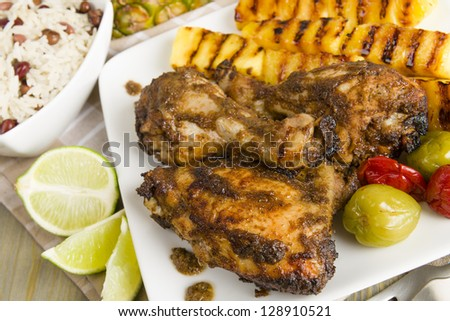 tacos grilled chicken with jerk chicken with pineapple jerk chicken ...
