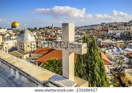 Jerusalem, Israel Old City cityscape. #232686427