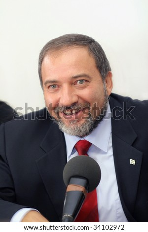 JERUSALEM - MAY 20 : Minister of Foreign Affairs of the State of Israel, Avigdor Lieberman in the Knesset May 20, 2009.