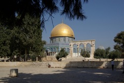 Jerusalem - Nov 21, 2010 - The Dome on the Rock on the Temple Mount, also known as Mount Moriah.