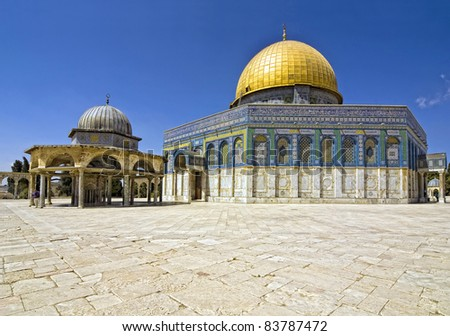 Jerusalem, old city, the Dome of the Rock, Temple Mount, Israel Stockfoto ©