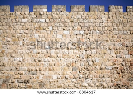 Jerusalem wall background