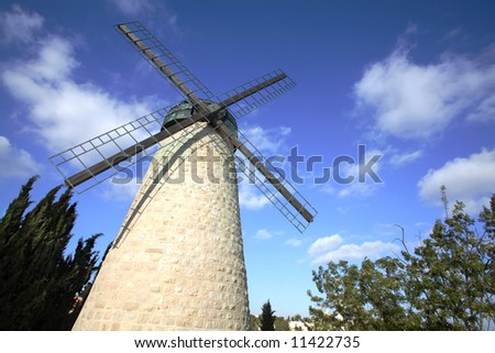 Jerusalem Windmill in Yemin Moshe